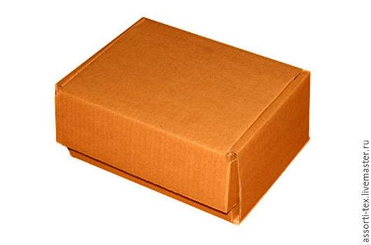Упаковка ручной работы. Ярмарка Мастеров - ручная работа. Купить Самосборная почтовая коробка 220х165х100. Handmade. Бежевый, картон