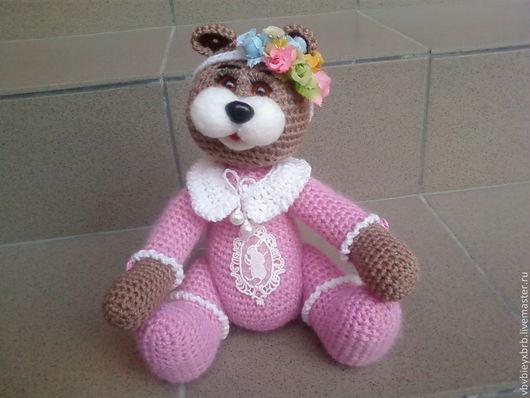Ароматизированные куклы ручной работы. Ярмарка Мастеров - ручная работа. Купить Мишка Розовое облако. Handmade. Хлопок, игрушка