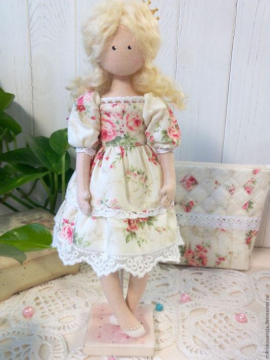 Коллекционные куклы ручной работы. Ярмарка Мастеров - ручная работа. Купить Рози.... Handmade. Кремовый, принцесса
