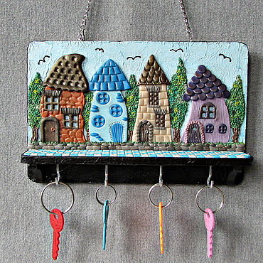 For home and interior handmade. Livemaster - original item Housekeeper: Housekeeper Summer in the City 3. The housekeeper wall.. Handmade.