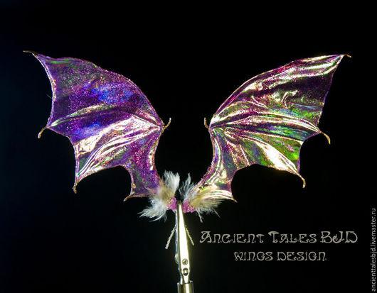 авторские крылья Крылья для куклы ООАК. Крылышки ручной работы для БЖД. Крылья летучей мыши