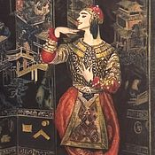 Картины и панно handmade. Livemaster - original item Miniature: Oriental motifs by Paul Poiret.. Handmade.
