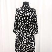 Одежда ручной работы. Ярмарка Мастеров - ручная работа Шелковое платье отрезное по талии. Handmade.