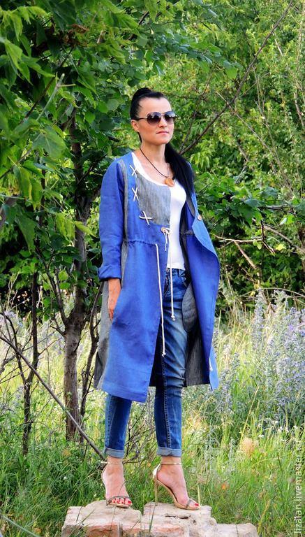 Пиджаки, жакеты ручной работы. Ярмарка Мастеров - ручная работа. Купить Летнее пальто в стиле БОХО. Handmade. Разноцветный