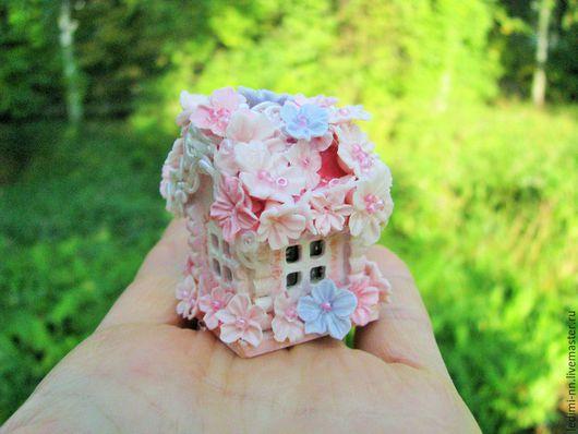 Миниатюра, кукольная миниатюра, домик Фея, фея, Феечка, кукольный домик, миниатюра ночник, мини домик, подарок для девочки, миниатюра сад, мини сад, подарок девочке, миниатюра домик, розовый домик,