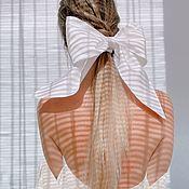 Аксессуары handmade. Livemaster - original item Bow-elastic band Snow. Handmade.