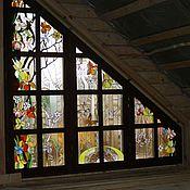 Для дома и интерьера ручной работы. Ярмарка Мастеров - ручная работа витраж (фрагмент). Handmade.
