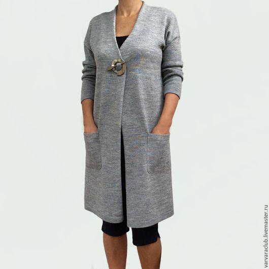 Кофты и свитера ручной работы. Ярмарка Мастеров - ручная работа. Купить Кардиган. Handmade. Серый, кардиган женский, одежда