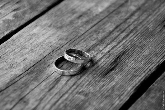 Серьги ручной работы. Ярмарка Мастеров - ручная работа. Купить Парные серебряные кольца с надписями. Handmade. Серый, обручальные кольца