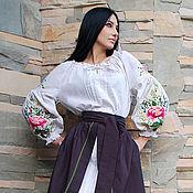 Одежда handmade. Livemaster - original item Women`s set with hand embroidery