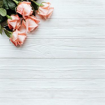 Материалы для творчества ручной работы. Ярмарка Мастеров - ручная работа Фотофон виниловый Карамельные розы. Handmade.