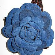 Украшения ручной работы. Ярмарка Мастеров - ручная работа Синяя Роза-брошь (заколка). Handmade.