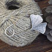 Украшения ручной работы. Ярмарка Мастеров - ручная работа Гинкго - буловка, брошь на шарф, пальто, кофту. Handmade.
