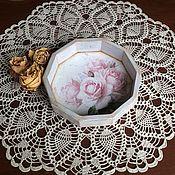 """Для дома и интерьера ручной работы. Ярмарка Мастеров - ручная работа """"Нежные розы"""" Мини-подносик (конфетница). Handmade."""