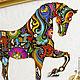 """Животные ручной работы. Ярмарка Мастеров - ручная работа. Купить Картина - панно """"Лошадь"""". Handmade. Картина для интерьера, лошадь"""