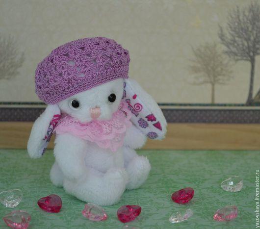 Мишки Тедди ручной работы. Ярмарка Мастеров - ручная работа. Купить Зайка — Снежка сшита полностью вручную из белоснежного плюша Peppy США. Handmade.
