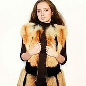 Одежда ручной работы. Ярмарка Мастеров - ручная работа Меховой жилет из лисы и бобра. Handmade.