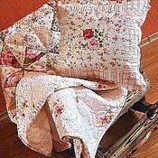 """Для дома и интерьера ручной работы. Ярмарка Мастеров - ручная работа Лоскутное покрывало """"Нежность"""". Handmade."""
