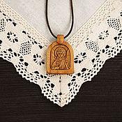 """Украшения ручной работы. Ярмарка Мастеров - ручная работа """"Ангел-Хранитель"""" - нательный образок-икона из кипариса. Handmade."""