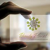 Дизайн и реклама ручной работы. Ярмарка Мастеров - ручная работа Визитка мастера Магазина современной бижутерии Beauty Planet. Handmade.