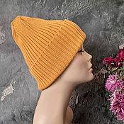 Аксессуары handmade. Livemaster - original item Women`s knitted hat, beanie, slouch hat, pumpkin. Handmade.
