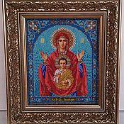 """Картины и панно ручной работы. Ярмарка Мастеров - ручная работа Икона """"Богородица Знамение"""". Handmade."""