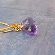 Украшения handmade. Livemaster - original item Amethyst earrings Amethyst rain. Handmade.