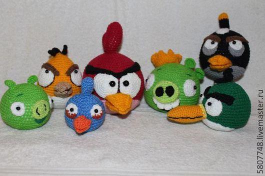 Игрушки животные, ручной работы. Ярмарка Мастеров - ручная работа. Купить птички angry birds. Handmade. Птицы, холлофайбер