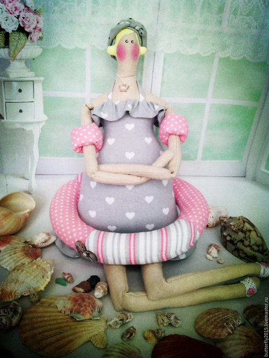 Куклы Тильды ручной работы. Ярмарка Мастеров - ручная работа. Купить Эмма.  тильда Купальщица)). Handmade. Серый, наполочная кукла