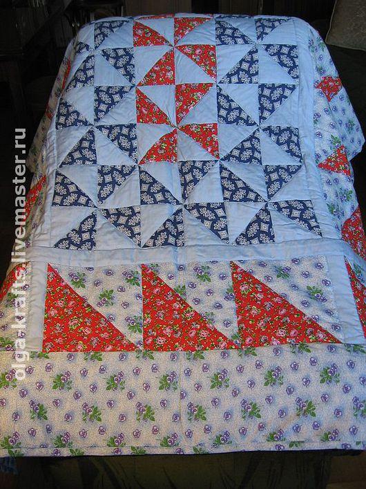 """Текстиль, ковры ручной работы. Ярмарка Мастеров - ручная работа. Купить Лоскутное одеяло """"Весенняя капель"""". Handmade. Одеяло пэчворк"""