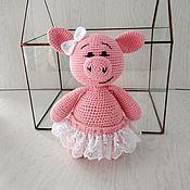 Куклы и игрушки handmade. Livemaster - original item Pig bride - symbol of 2019.. Handmade.