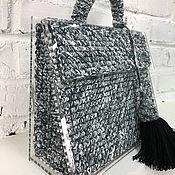 Сумки и аксессуары handmade. Livemaster - original item Grey bag business. Handmade.