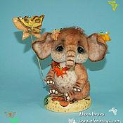 Куклы и игрушки ручной работы. Ярмарка Мастеров - ручная работа Слоник Рыжик. Handmade.