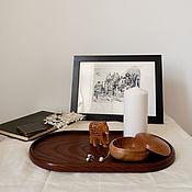 Хранение вещей ручной работы. Ярмарка Мастеров - ручная работа B a s i c _ Интерьерный овальный поднос из термоясеня. Handmade.