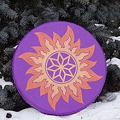 Музыкальные инструменты handmade. Livemaster - original item Alatyr in double sunshine. Tambourine Vedic.. Handmade.