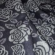 """Материалы для творчества ручной работы. Ярмарка Мастеров - ручная работа Шерсть рогожка двухсторонняя """"Розочки-розочки""""серо-фиолетовая. Handmade."""