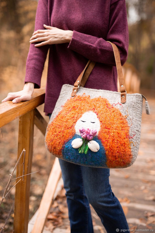 Модная сумка из войлока - Рыжуха, Сумка-шоппер, Ташкент,  Фото №1