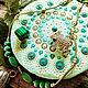 Stand for jewelry / under the mug. Dot painting. Mint mandala. Stand. lyunaz (lyunaz). My Livemaster. Фото №6