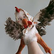 Куклы и игрушки handmade. Livemaster - original item Kurochka Ryaba. Glove puppet.. Handmade.