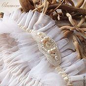 Свадебный салон ручной работы. Ярмарка Мастеров - ручная работа Мария. Подвязка невесты. Handmade.