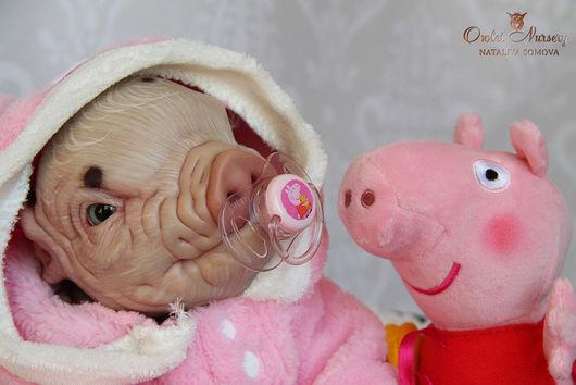 Куклы-младенцы и reborn ручной работы. Ярмарка Мастеров - ручная работа. Купить Свинка Пеппа. Handmade. Бежевый, двойняшки