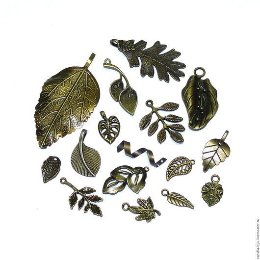 металлические подвески листья купить подвески листья для украшений купить ветки, листья металлические купить подвески для украшений купить vsedlabiju