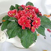"""Цветы и флористика ручной работы. Ярмарка Мастеров - ручная работа """"Фиалка"""" из холодного фарфора. Handmade."""