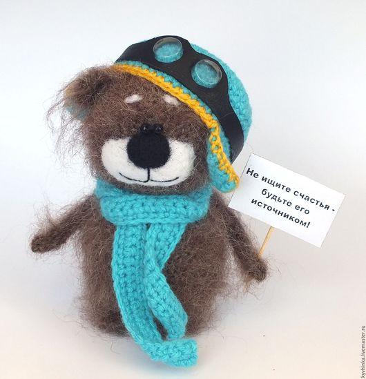 Игрушки животные, ручной работы. Ярмарка Мастеров - ручная работа. Купить Мишка Балу - пилот (Медведь, вязаная игрушка, подарок). Handmade.