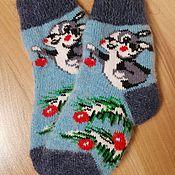 Одежда детская handmade. Livemaster - original item Christmas socks Knitted children`s socks Warm socks for children. Handmade.
