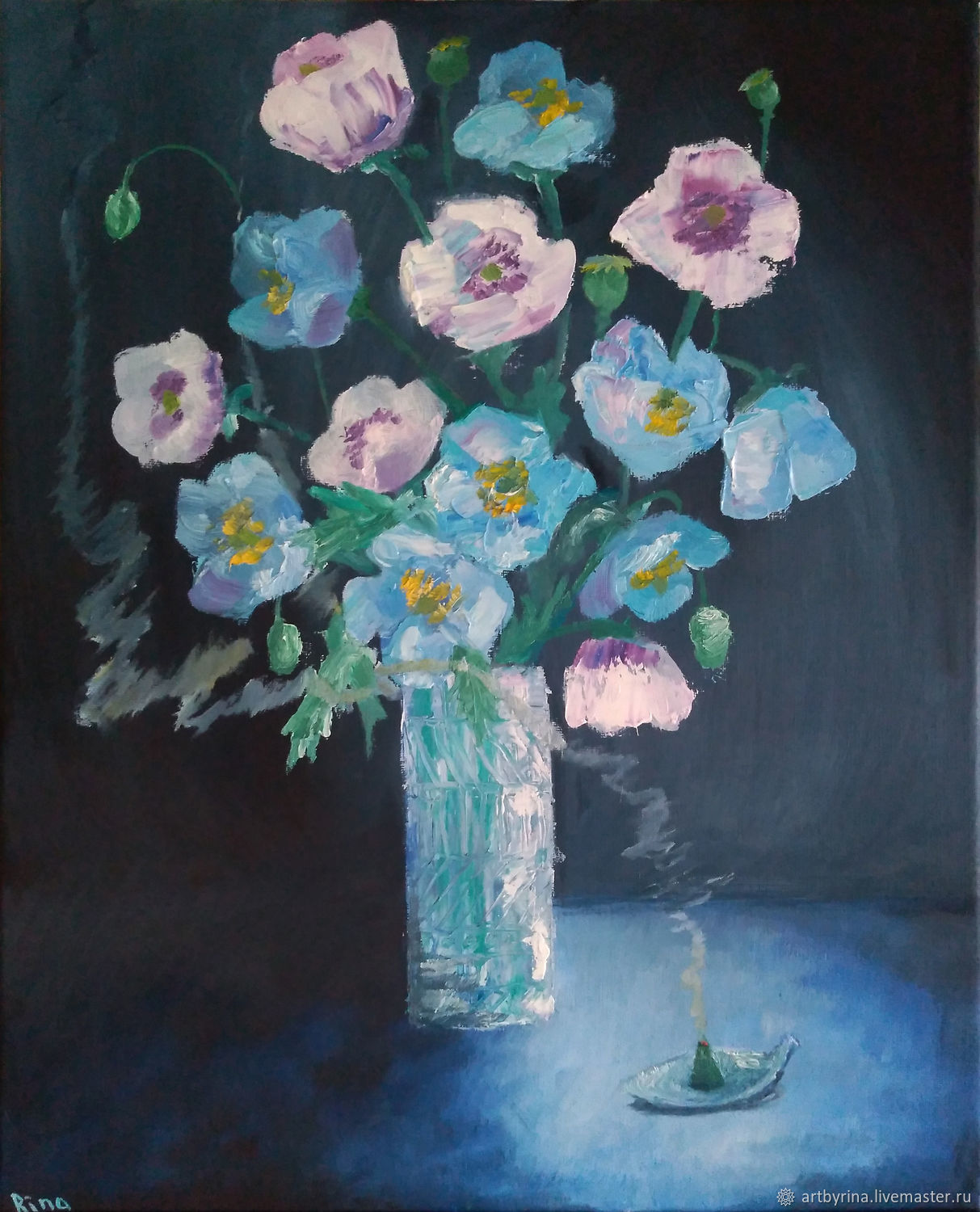 Poppies (oil on canvas, 40h50 cm), Pictures, Ryazan,  Фото №1