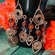 Украшения handmade. Livemaster - original item Long earrings in Slavic motifs. Handmade.