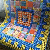 Одеяла ручной работы. Ярмарка Мастеров - ручная работа Детский лоскутный плед-одеяло. Handmade.