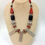 Украшения handmade. Livemaster - original item Necklace made of natural stones ethnic design Savannah. Handmade.