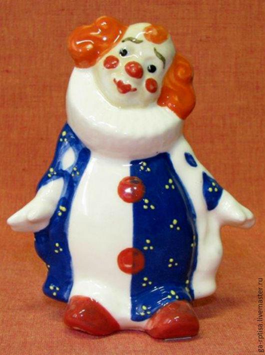 Элементы интерьера ручной работы. Ярмарка Мастеров - ручная работа. Купить Клоун в жабо. Фарфор.. Handmade. Разноцветный, клоун, клоуны